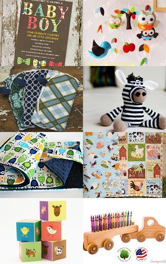 Baby Boy Gifts to Inspire on Etsy!  #Angelorian Tradition #Baby Boy #Boy Gifts #Etsy Gifts