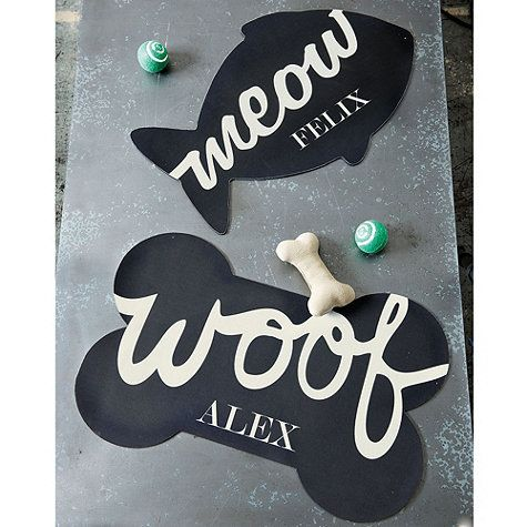 Personalized Pet Bowl Mat, available at ballarddesigns.com