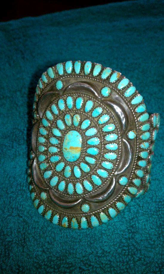 Old Navajo Turquoise Bracelet