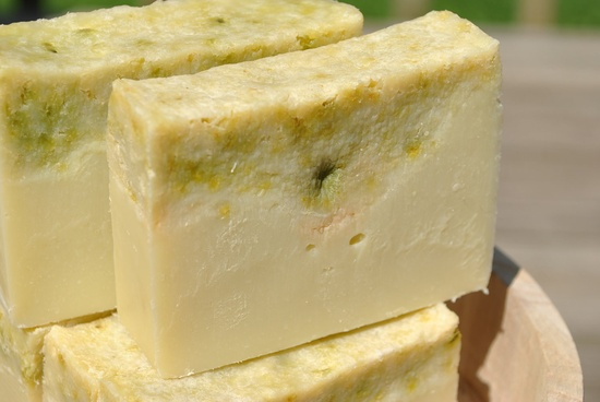 Vegan Cold Process Cucumber Handcrafted Soap. $5.00, via Etsy.