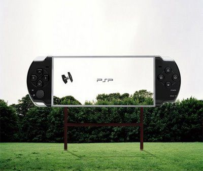 Clever advertising - PSP