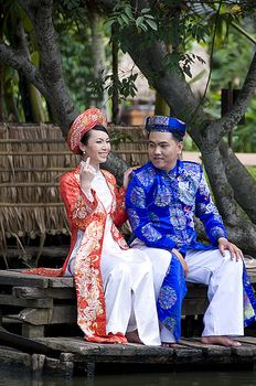 Vietnamese newlyweds