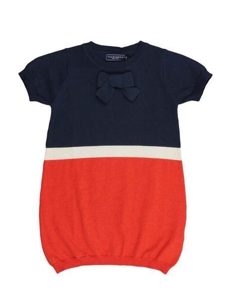 Adorable navy/orange AUburn baby dress!