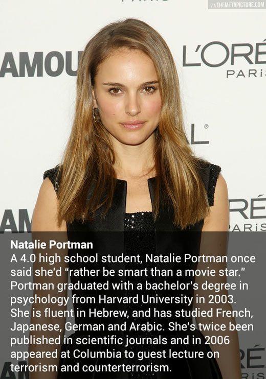 Natalie Portman. Brains and Beauty.