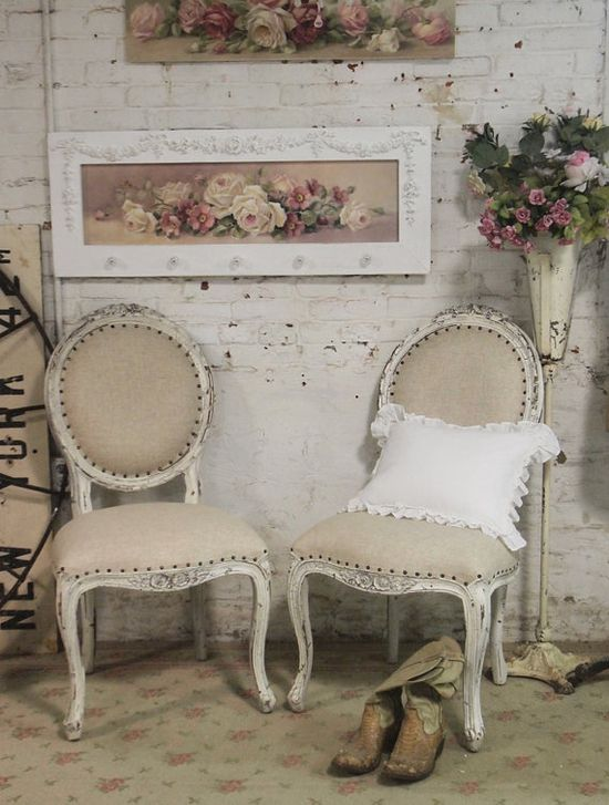 Painted Cottage Chic Shabby Farmhouse Chair [CHR48] - $295.00 : The Painted Cottage, Vintage Painted Furniture