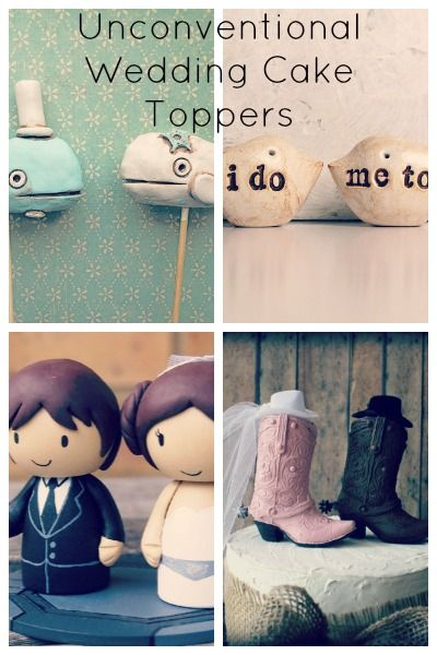 24 Unconventional Wedding Cake Toppers