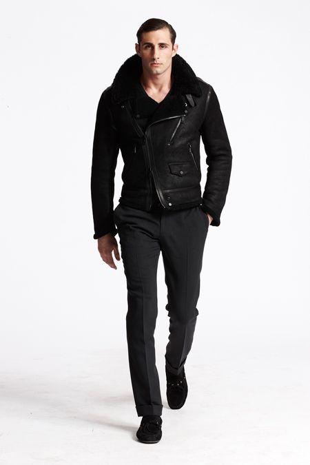 Ralph-Lauren-Fall-2013-Look-Black-Label : Leather jacket