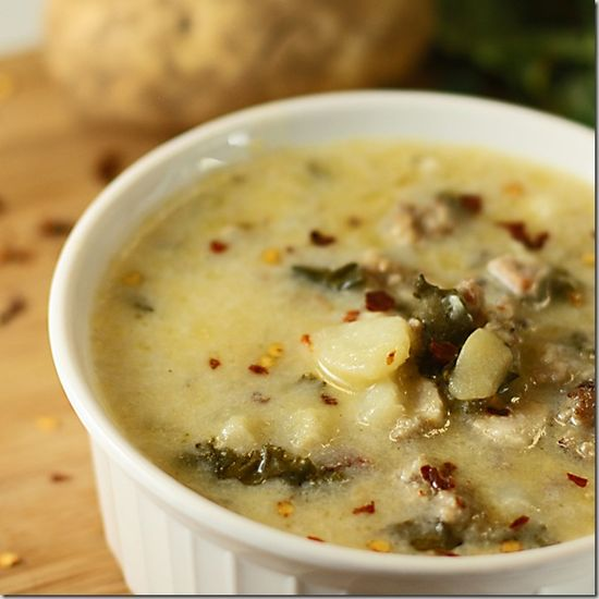 Olive Garden's Zuppa Toscana, one of my favorite soups to make.