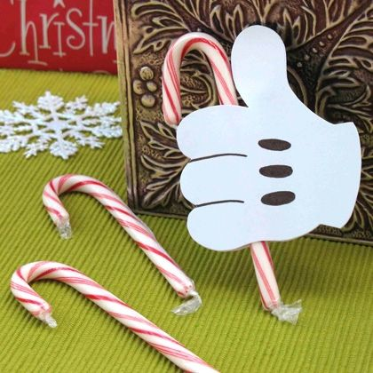 Mickey's Handy Candy Ornament - would also make a cute gift tag!
