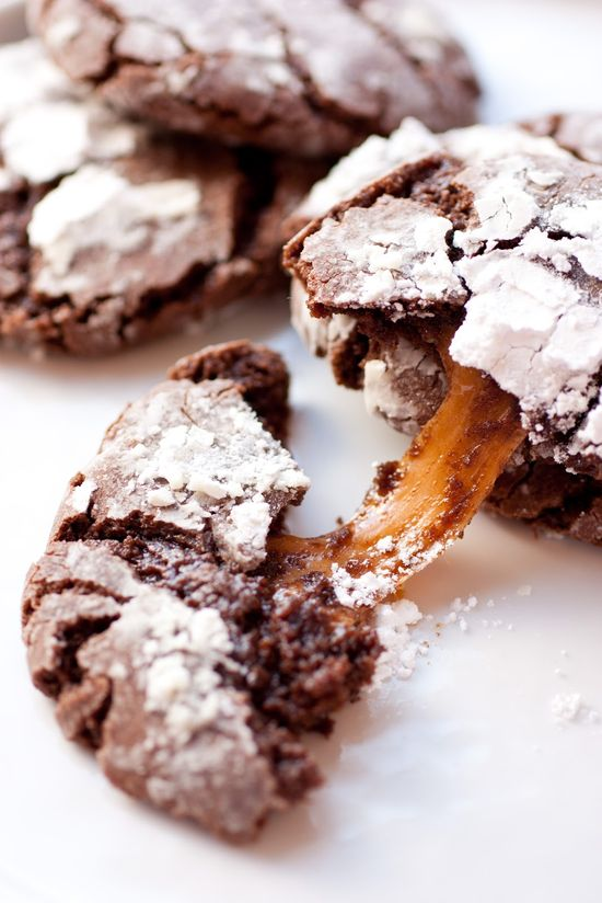 Cooking Classy: Salted Caramel Stuffed Chocolate Crinkle Cookies