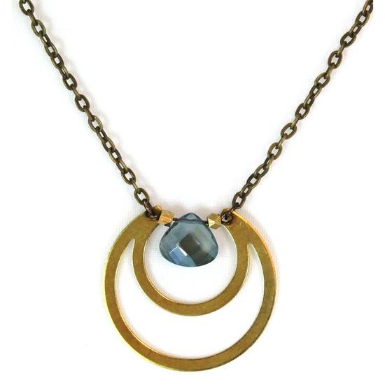 {Halo Necklace Green} Mishakaudi Jewelry