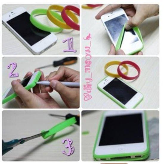 Silicone stretch bracelet iPhone bumper case