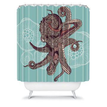 DENY Designs: Octopus Bloom Shower Curtain
