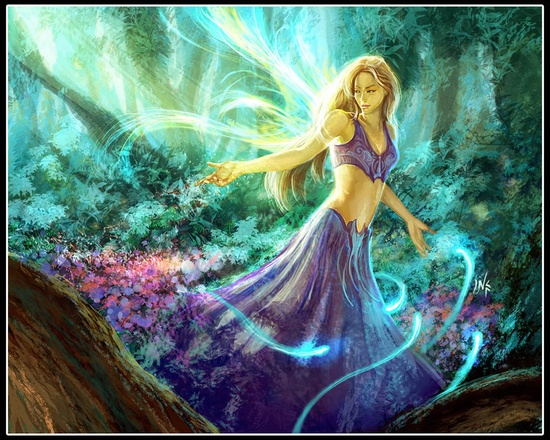 Forest faerie by =Tsabo6 on deviantART