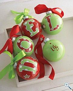 Initial Ornaments!