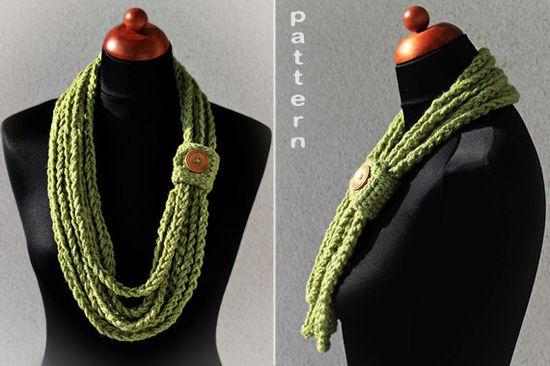 Crochet+Pattern+Crochet+Chain+Scarf+by+ZoomYummy+on+Etsy,+$3.50