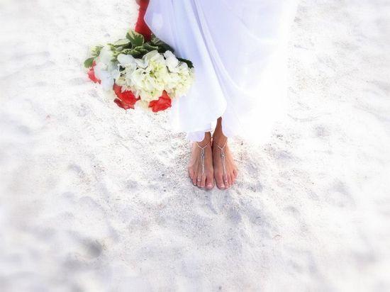 Beautiful beach wedding photo