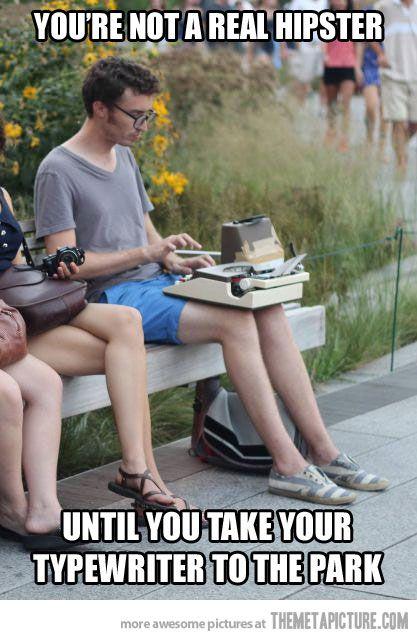 Typewriter to the park