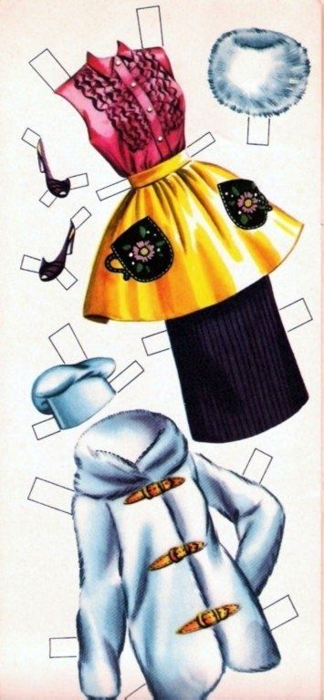 Vintage paper doll - outfits