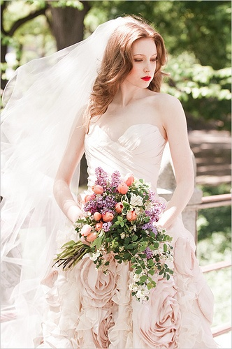 Pink wedding dress 2013 (5)