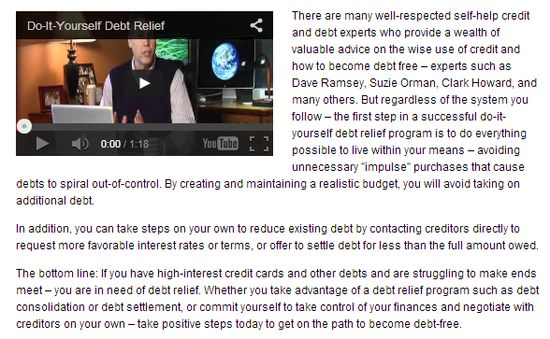 Do-It-Yourself Debt Relief