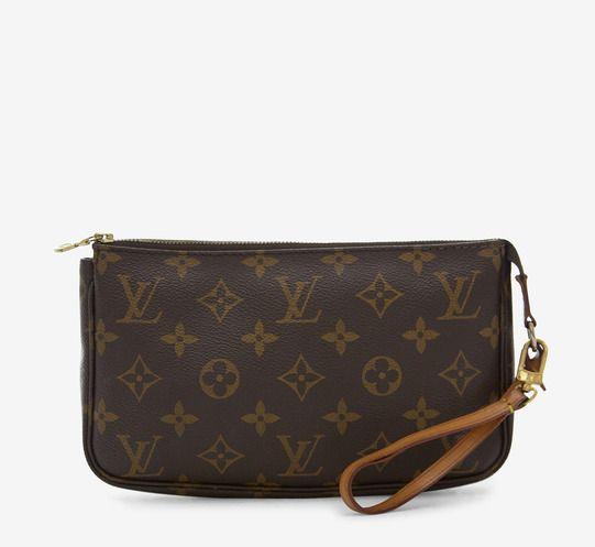 Louis Vuitton Brown And Tan Handbag