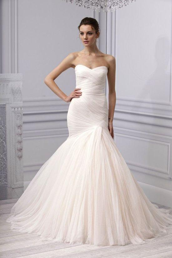 Beautiful Monique Lhuillier wedding gown, Spring 2013.