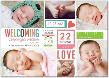 bright baby announcements!