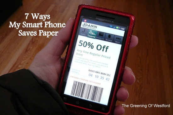 7 ways my smart phone saves paper
