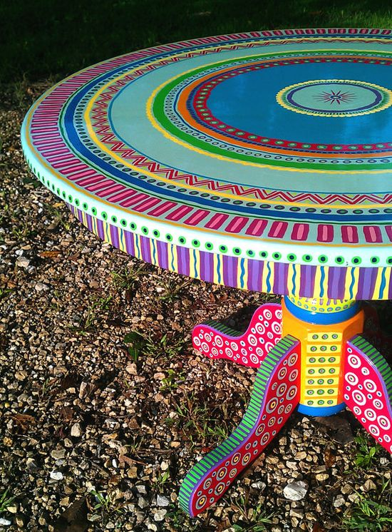 table color ideas...Hand Painted Furniture