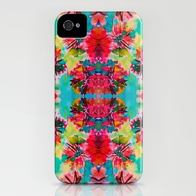 tropical floral iphone case from society6