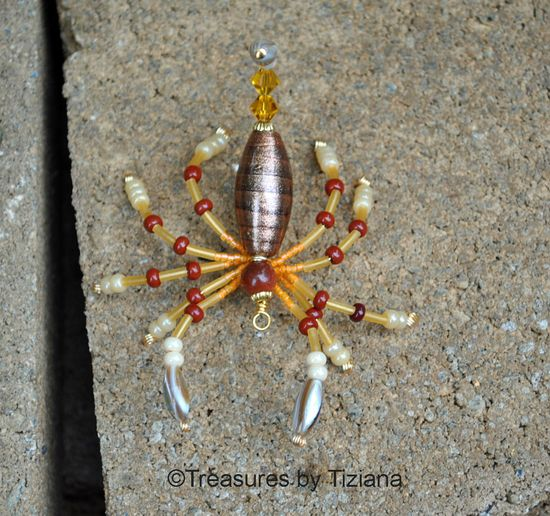 Hand Made Beaded Crystal Scorpion