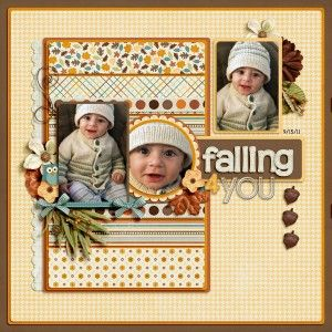Like the design on this scrapbook layout