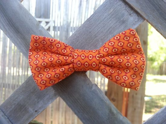 orange Bowtie (baby boy and men's)