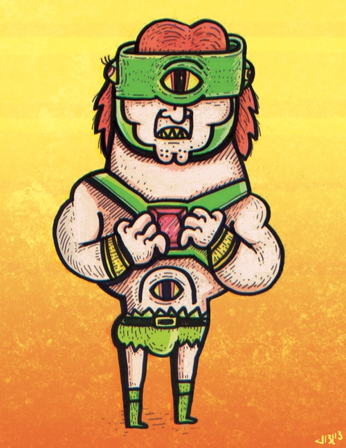 TriKlops from the Cult Classic Cartoon by joel mack