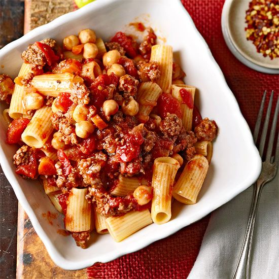 Your whole family will love this delicious Italian recipe! Try our Beef Ragu with Garbanzo Beans tonight:  www.bhg.com/...