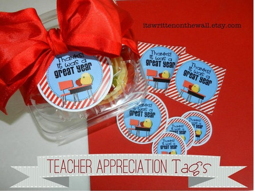Teacher Appreciation Gift tag--Thanks, it was a great year.  A special note for your gift to Teacher