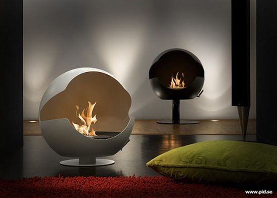 Simple And Decorative Modern Gas Fireplace: Unique Modern Gas Fireplace For Interior Design Ideas ~ lanewstalk.com Indoor Furniture Inspiration
