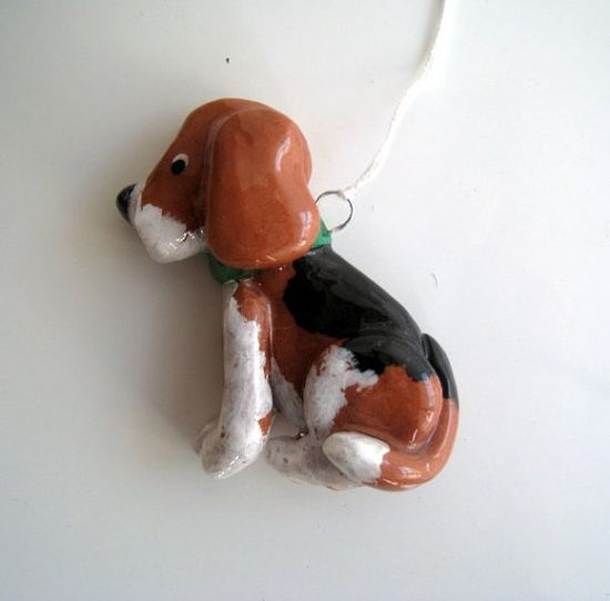 Beagle ornament handmade bread dough by judy caron by JudyCaron, $14.95