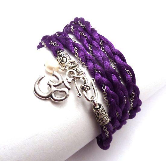 Purple is the new black!  #etsy #brigteam #purple #jewelry #bracelet