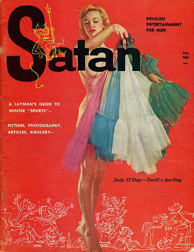 """Satan Magazine cover """"Judy O´ Day"""" / July 1957 / Vol. 1 Nº 1"""