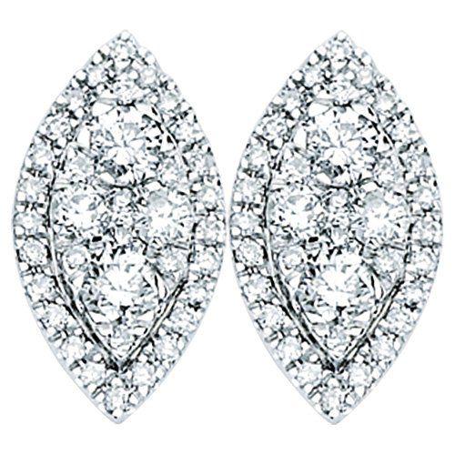 Diamond Marquise Studs Earrings.