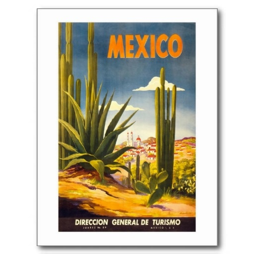 Mexico - Vintage Travel Poster of North America Post Cards #Postcards