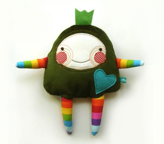 Rainbow plush by Manka. #stuffed #doll #felt #sewing