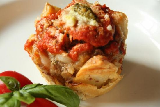 Savory Italian Meatloaf Cupcakes