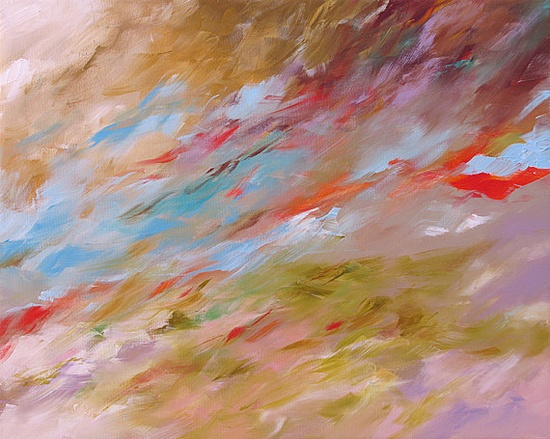 Original Landscape Painting Abstract Art or by lindamonfort, $265.00