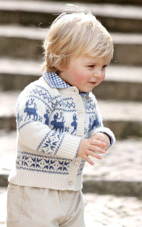 baby boy in sweater