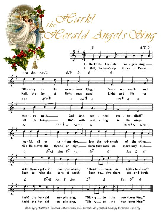 Free printable sheet music for all those great Christmas crafts