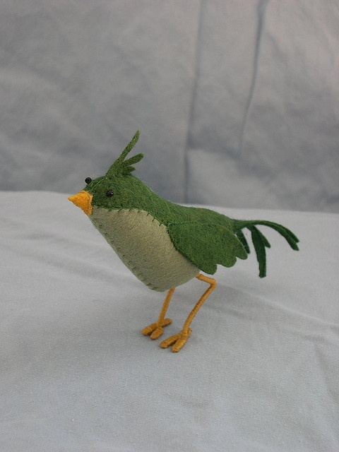 Green Felt bird