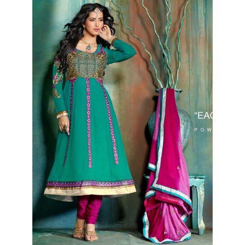 Amazing neck work design designer Salwar Suit Glamour Touch 2105